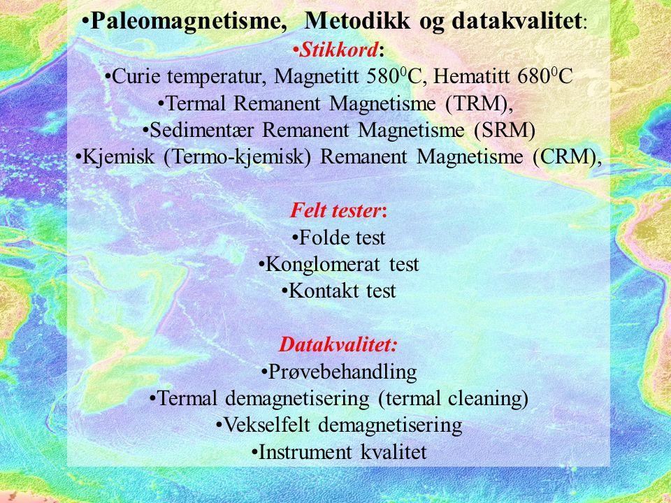 Paleomagnetisme, Metodikk og datakvalitet: