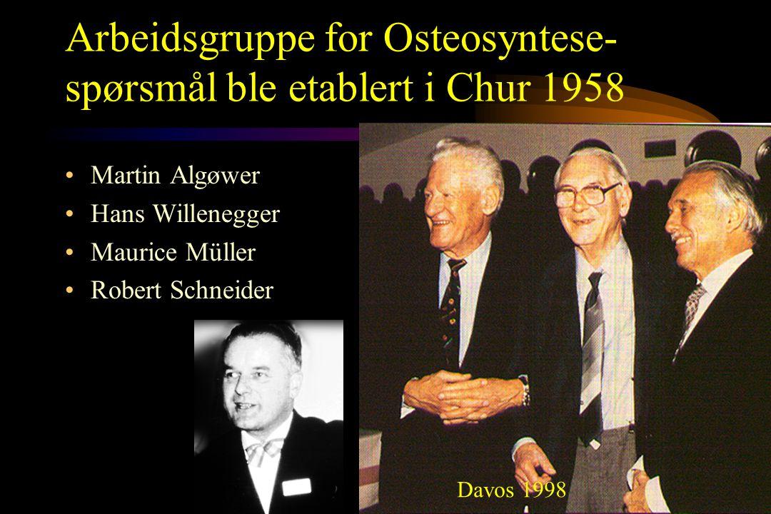 Arbeidsgruppe for Osteosyntese-spørsmål ble etablert i Chur 1958