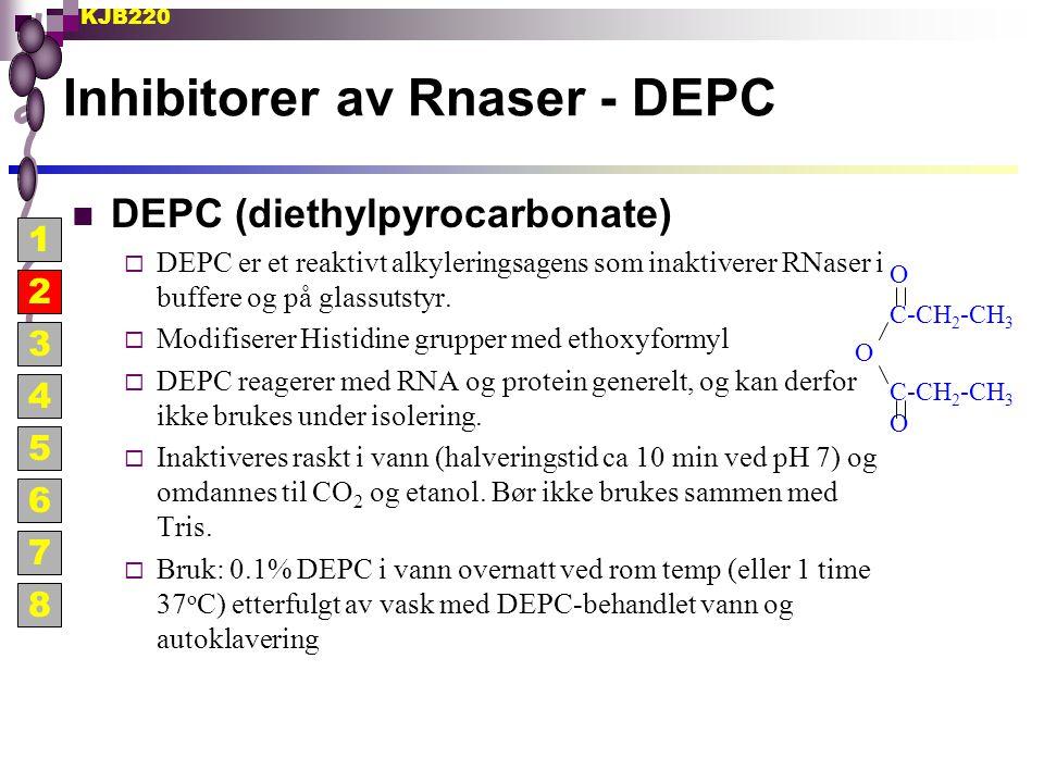 Inhibitorer av Rnaser - DEPC