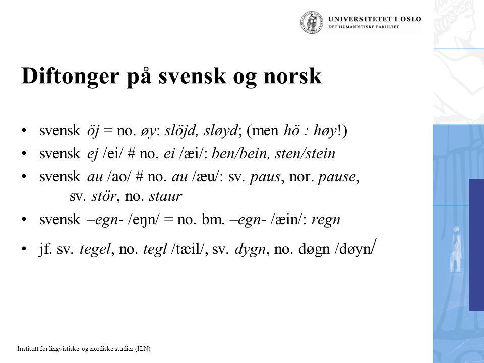 Diftonger på svensk og norsk