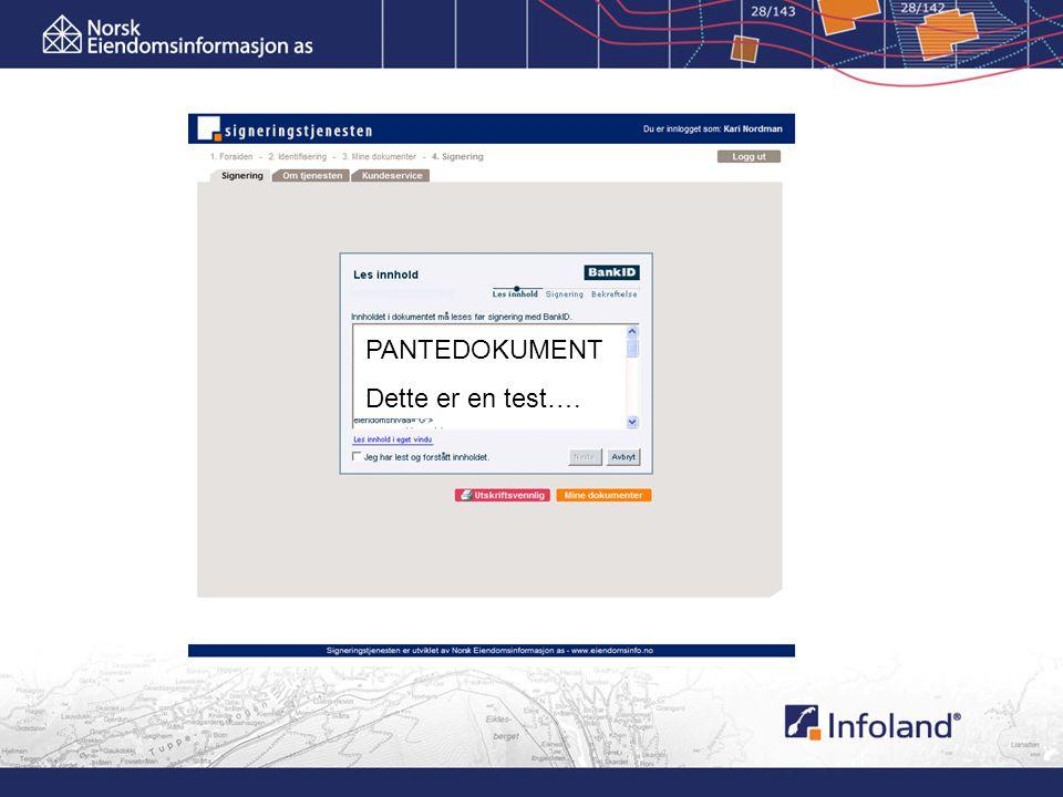 PANTEDOKUMENT Dette er en test….