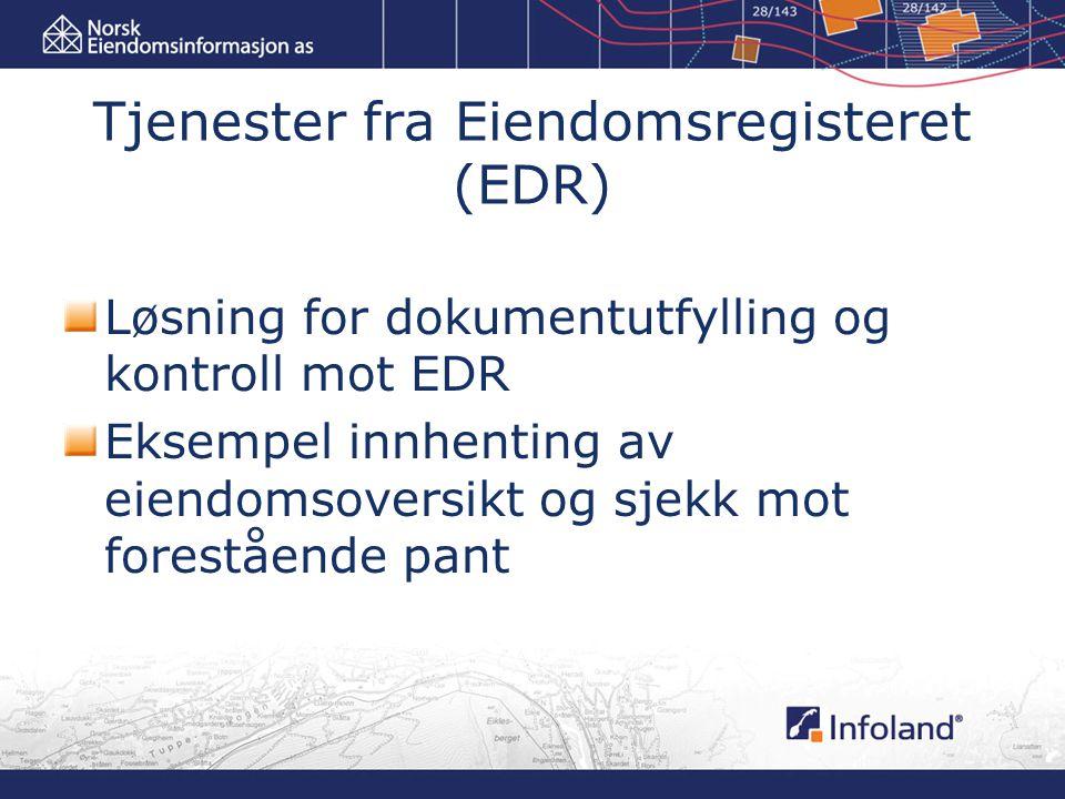 Tjenester fra Eiendomsregisteret (EDR)