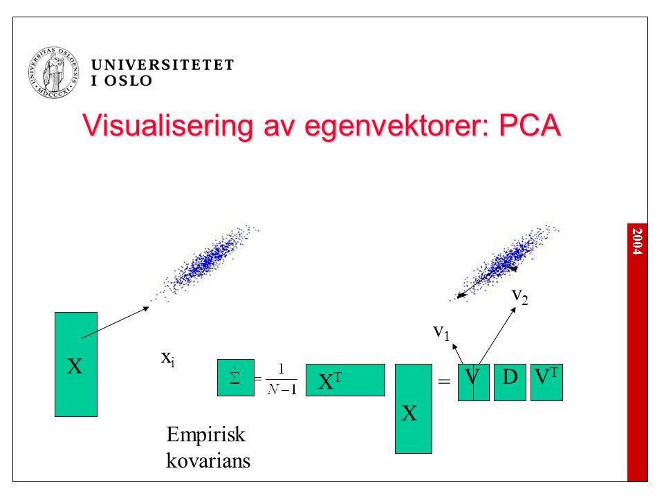 Visualisering av egenvektorer: PCA