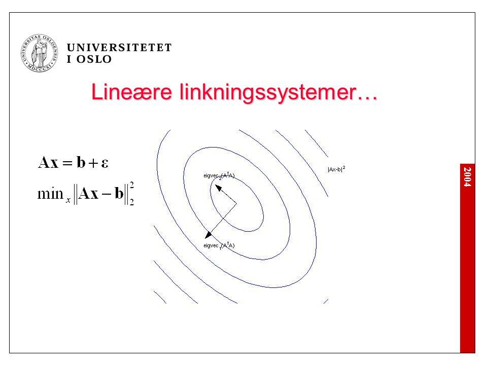 Lineære linkningssystemer…