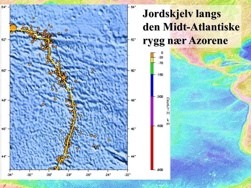 Jordskjelv langs den Midt-Atlantiske rygg nær Azorene