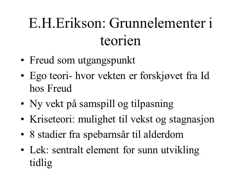 E.H.Erikson: Grunnelementer i teorien