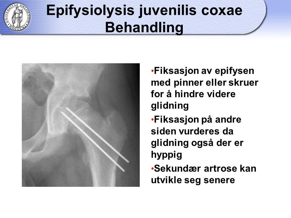 Epifysiolysis juvenilis coxae Behandling