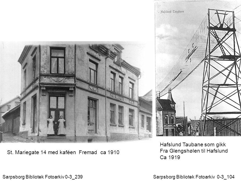 Hafslund Taubane som gikk Fra Glengshølen til Hafslund Ca 1919