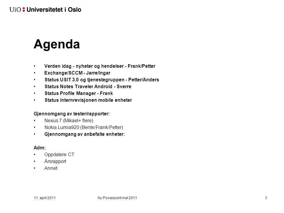 Tjenestegruppemøte mobile enheter 08.02.2013