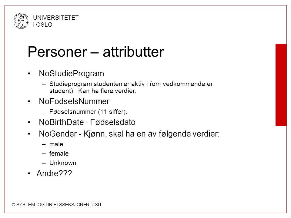 Personer – attributter