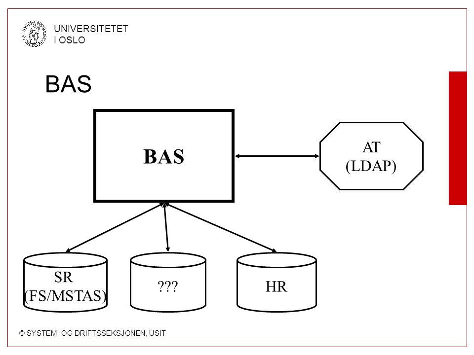 BAS BAS AT (LDAP) SR (FS/MSTAS) HR