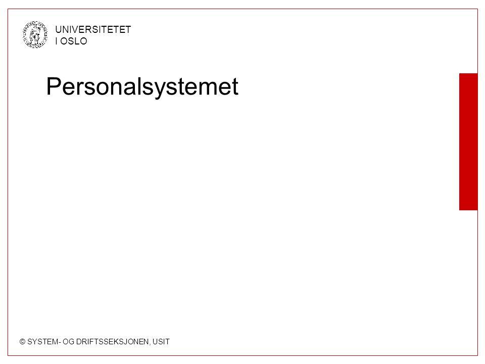 Personalsystemet
