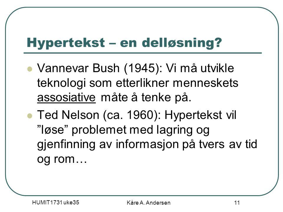 Hypertekst – en delløsning