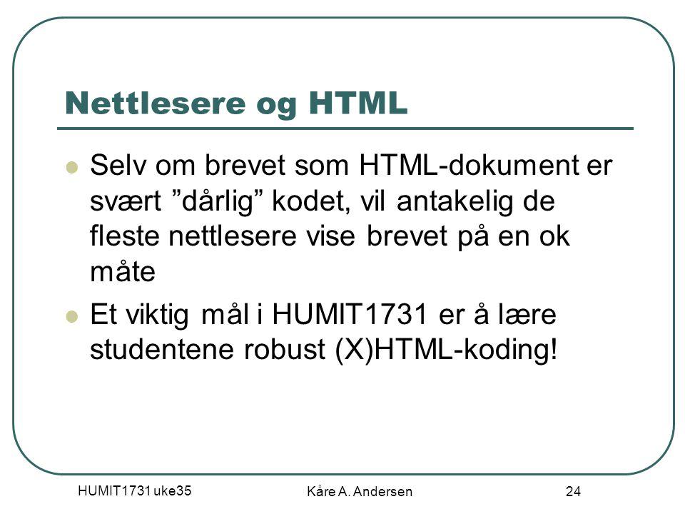 04.04.2017 Nettlesere og HTML.
