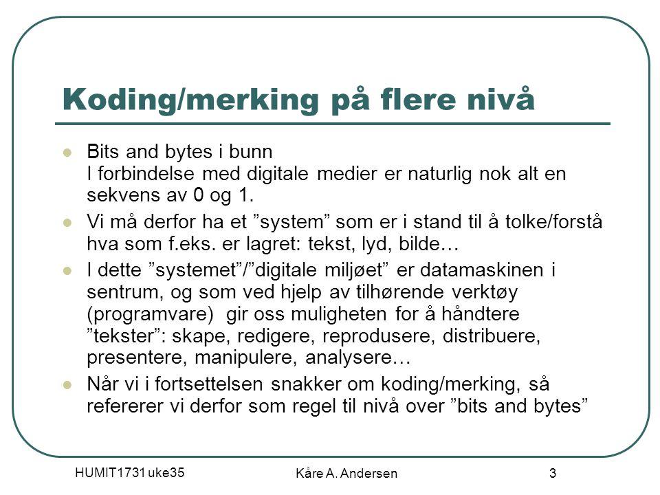 Koding/merking på flere nivå