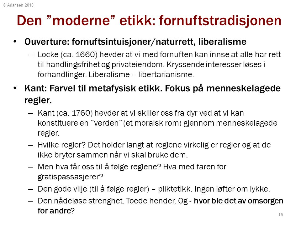 Pendelutslaget: moral er for dumminger!