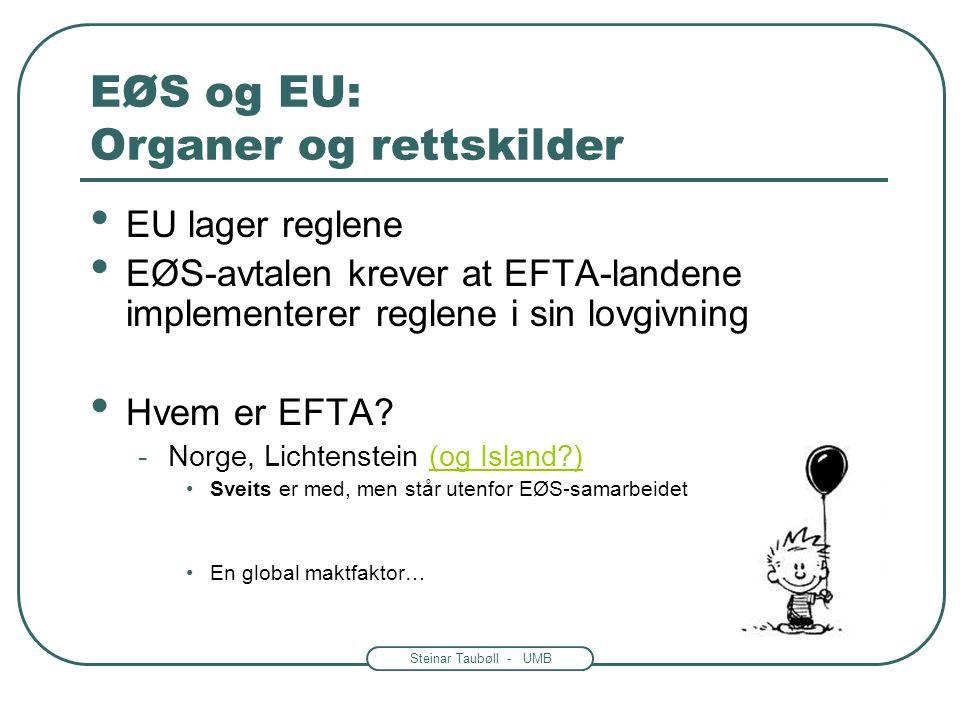 EØS og EU: Organer og rettskilder