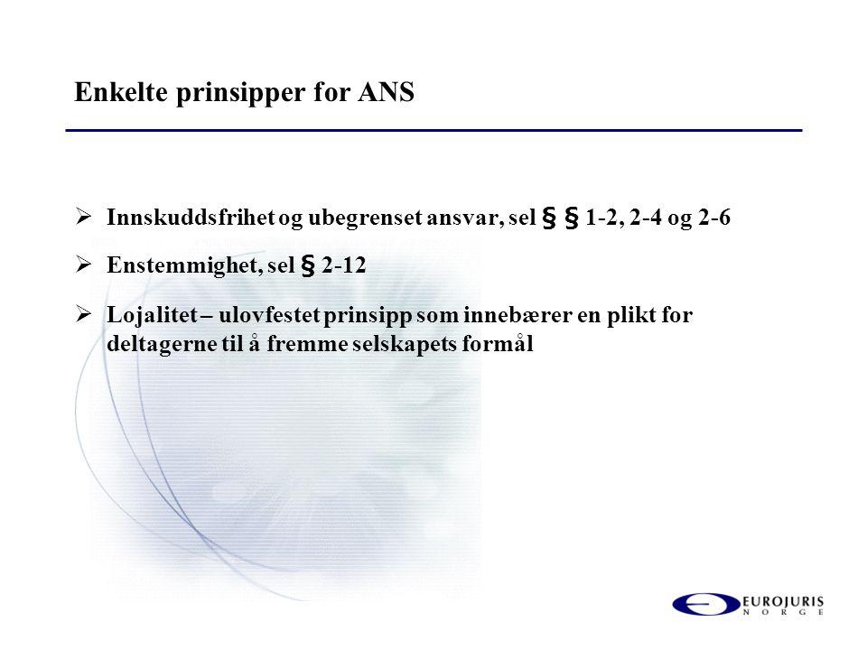 Enkelte prinsipper for ANS