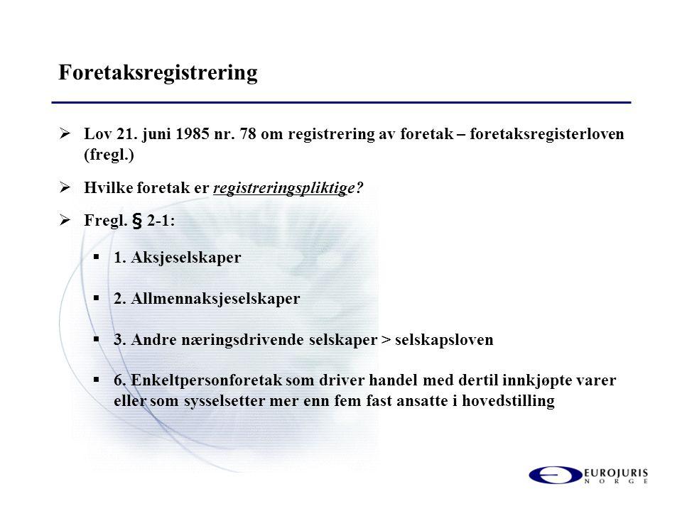 Foretaksregistrering