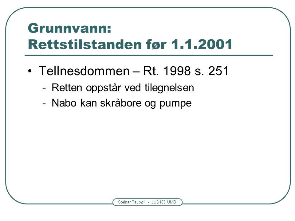 Grunnvann: Rettstilstanden før 1.1.2001