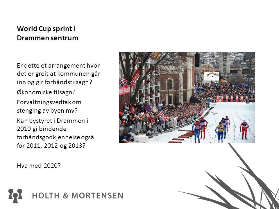 World Cup sprint i Drammen sentrum