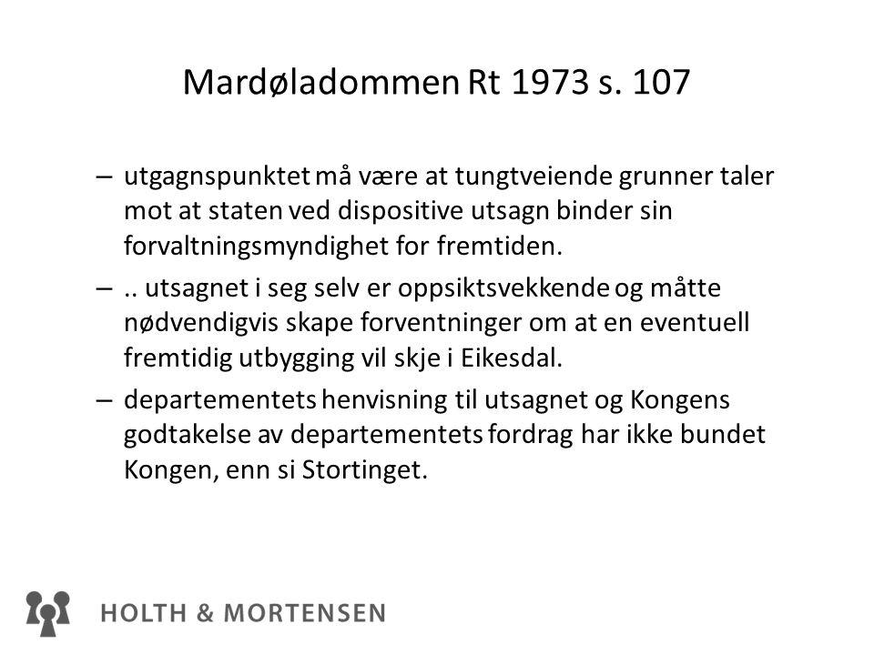 Mardøladommen Rt 1973 s. 107