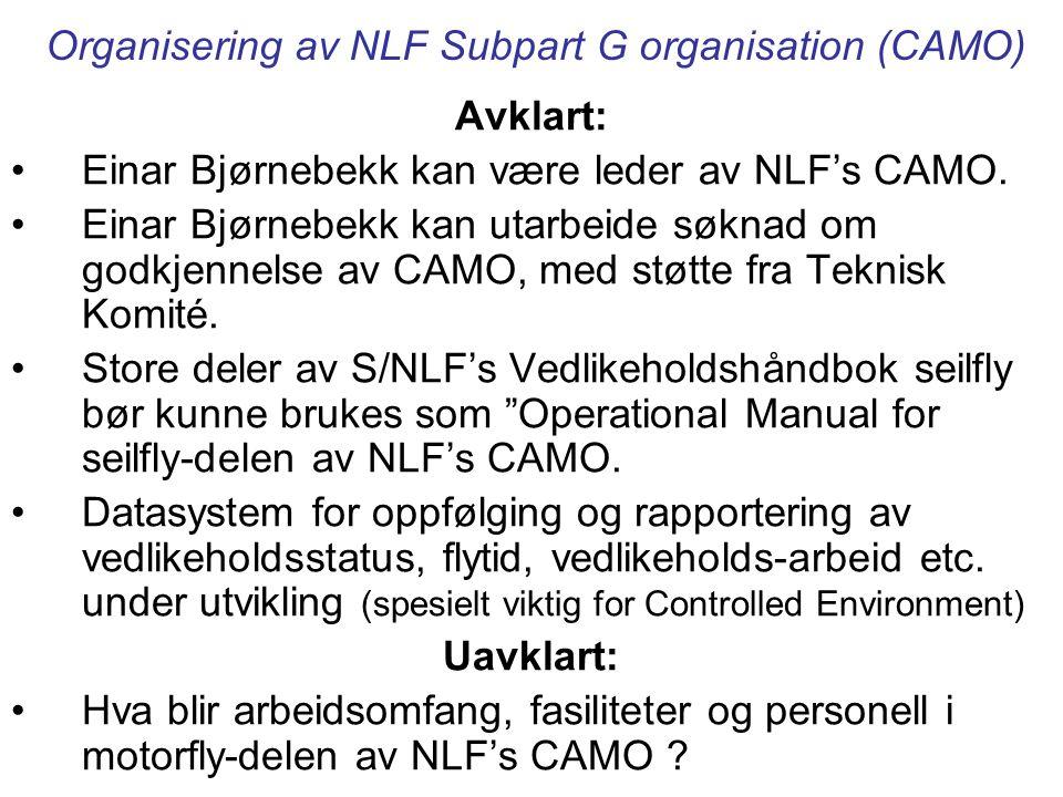 Organisering av NLF Subpart G organisation (CAMO)
