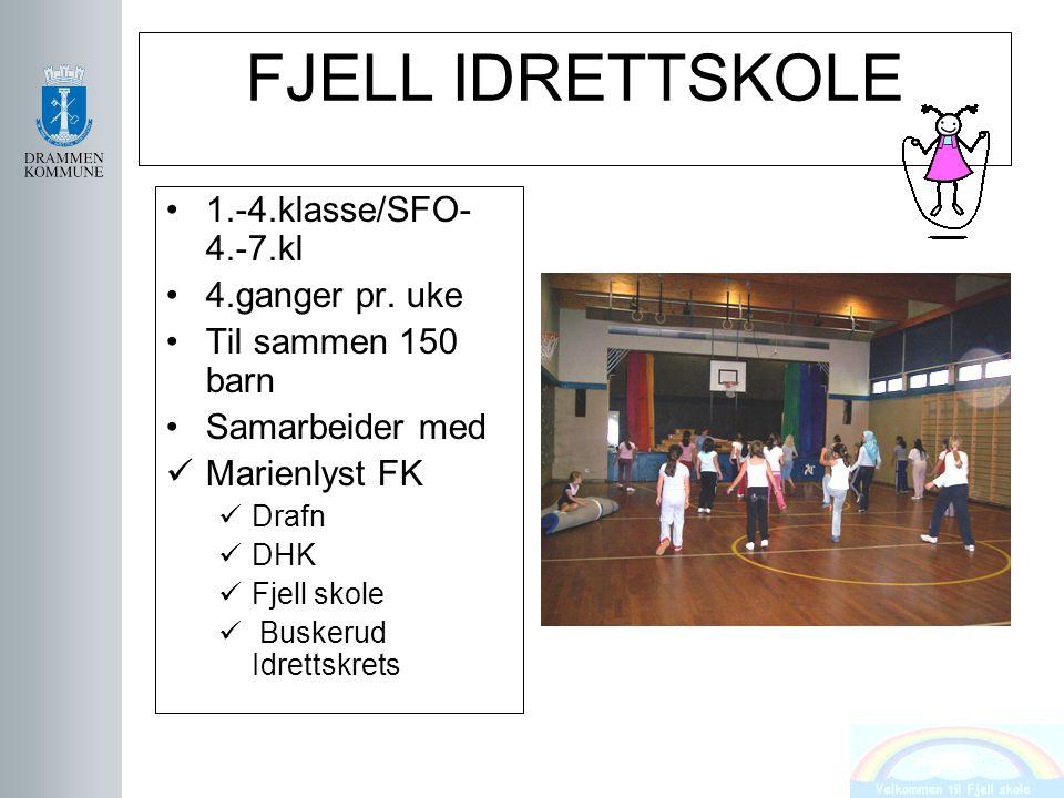FJELL IDRETTSKOLE 1.-4.klasse/SFO-4.-7.kl 4.ganger pr. uke