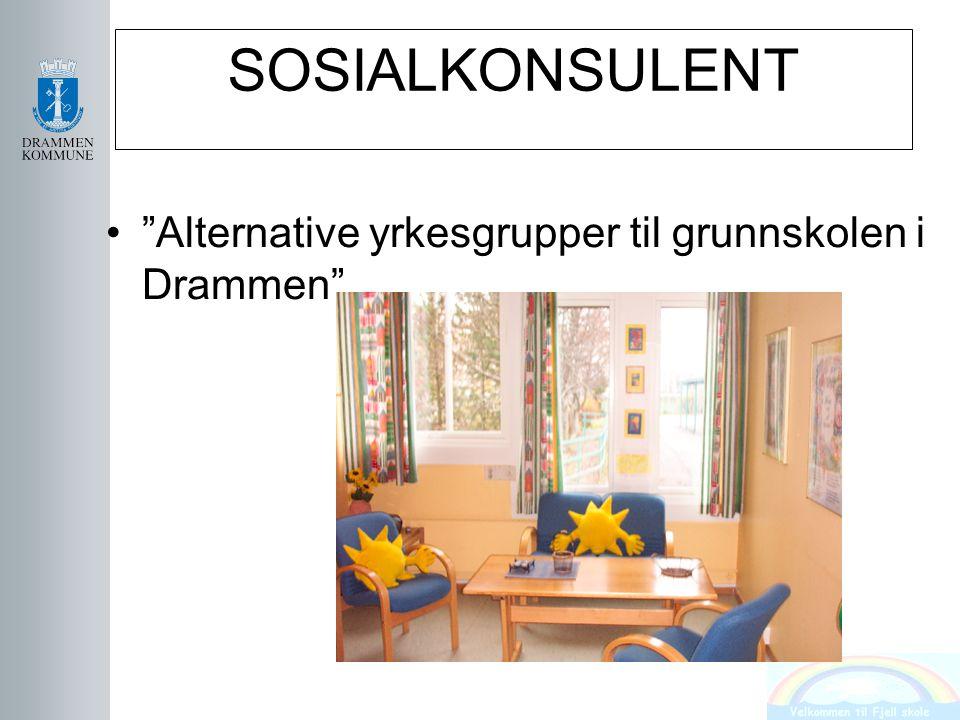 SOSIALKONSULENT Alternative yrkesgrupper til grunnskolen i Drammen