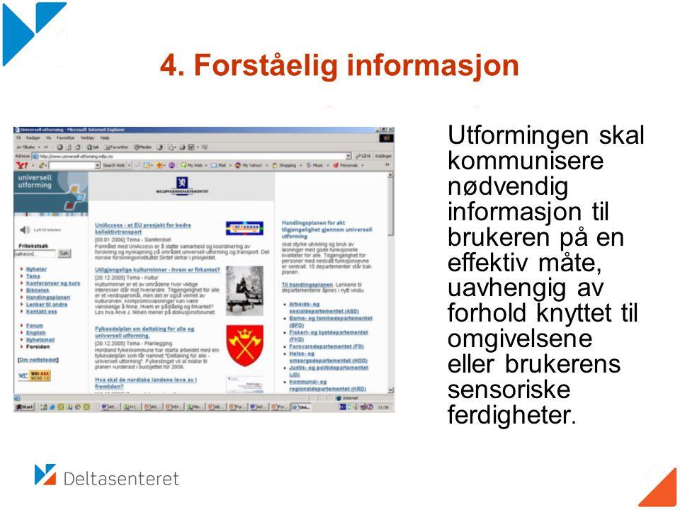 4. Forståelig informasjon