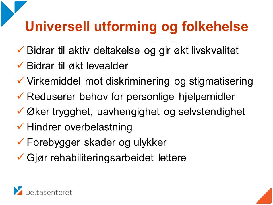 Universell utforming og folkehelse