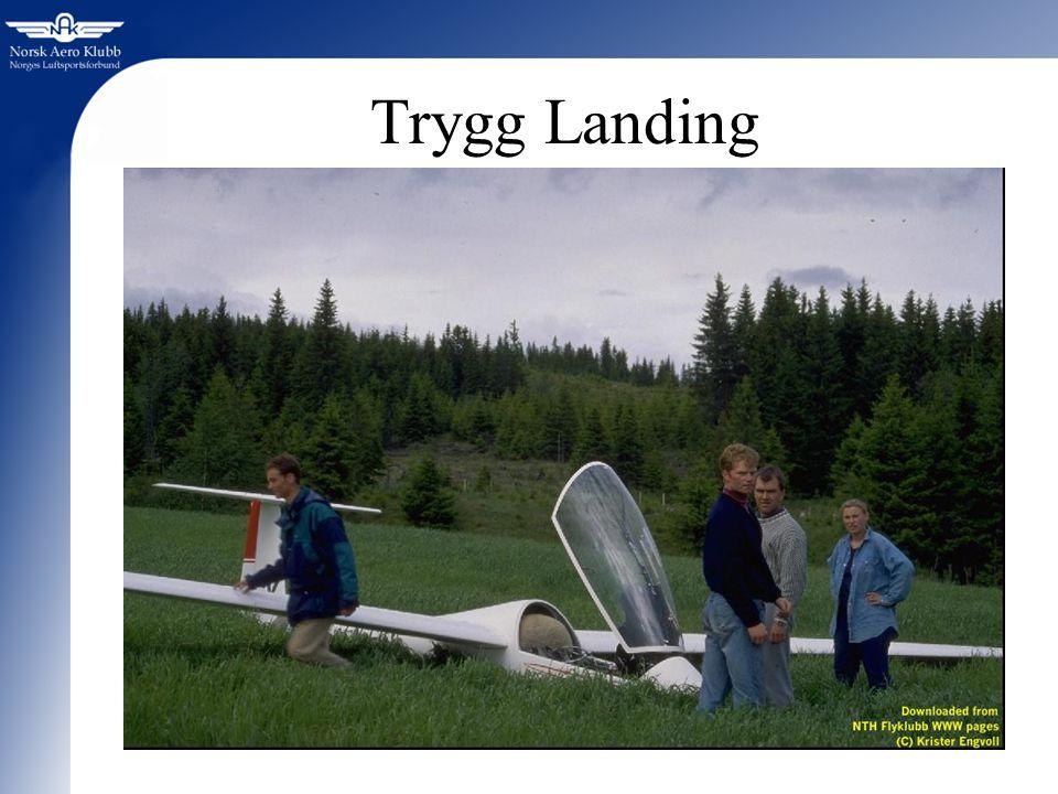 Trygg Landing Vi skal nå rette fokus mot årets satsningsområde: Landinger. Vi vil bruke ca en halv time.