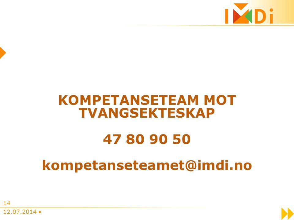 KOMPETANSETEAM MOT TVANGSEKTESKAP 47 80 90 50 kompetanseteamet@imdi.no