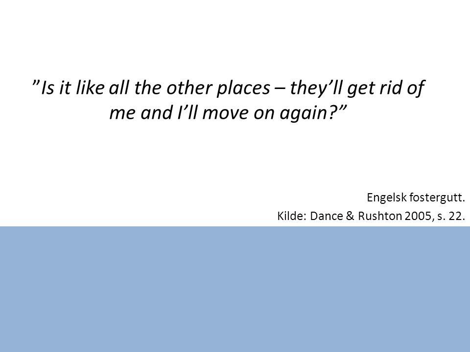 Engelsk fostergutt. Kilde: Dance & Rushton 2005, s.