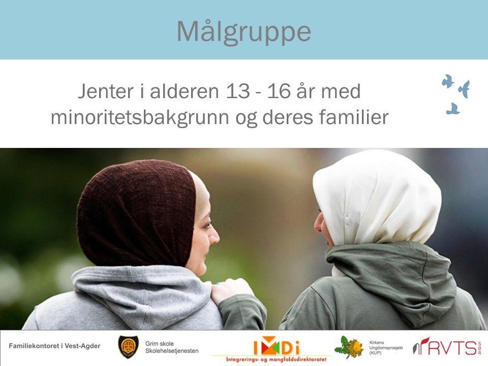 Jenter i alderen 13 - 16 år med minoritetsbakgrunn og deres familier