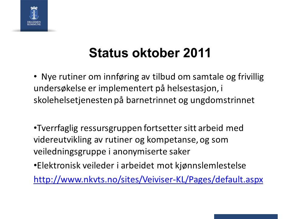 Status oktober 2011