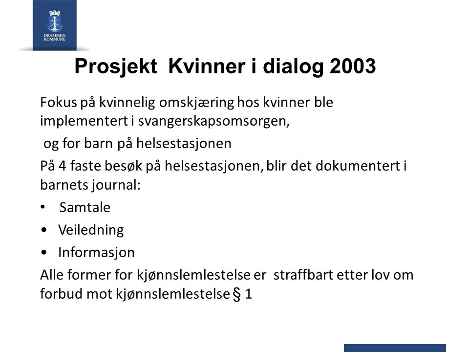 Prosjekt Kvinner i dialog 2003