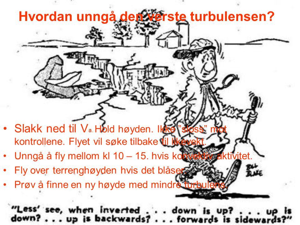 Hvordan unngå den verste turbulensen