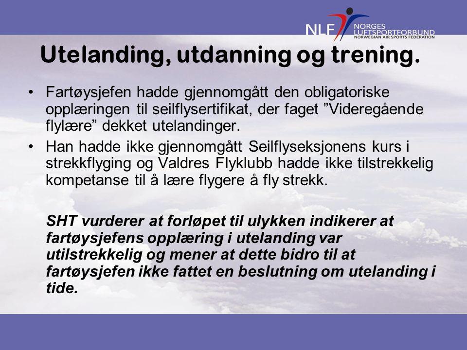Utelanding, utdanning og trening.