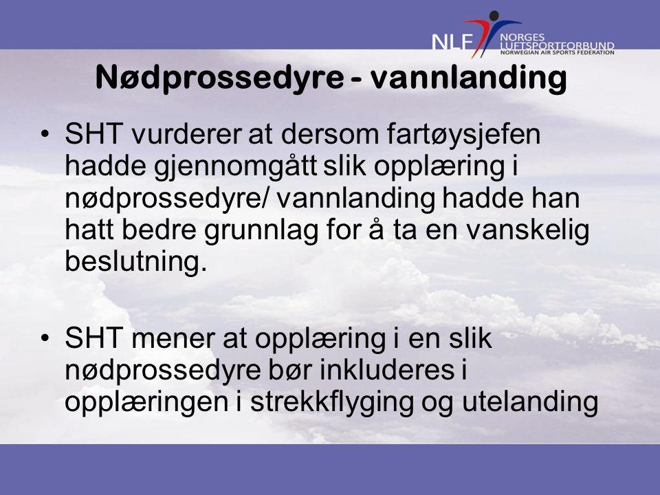 Nødprossedyre - vannlanding
