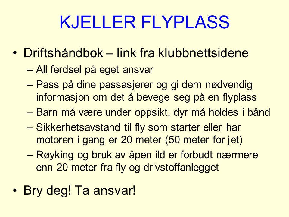 KJELLER FLYPLASS Driftshåndbok – link fra klubbnettsidene