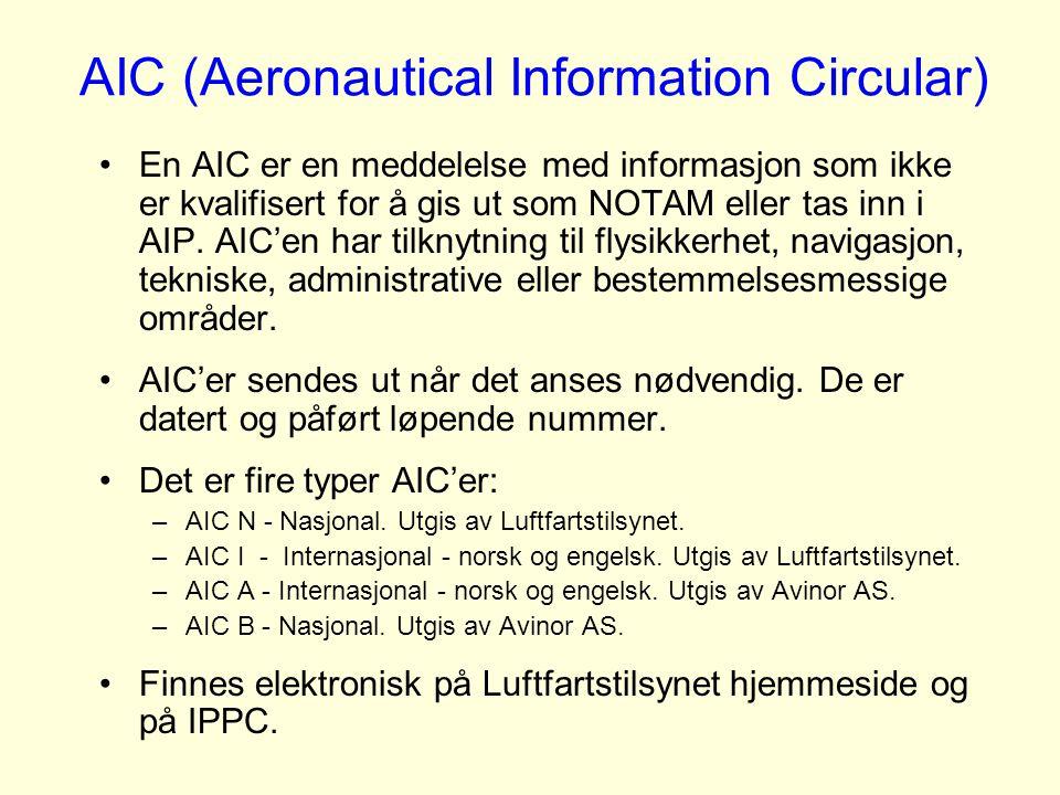 AIC (Aeronautical Information Circular)