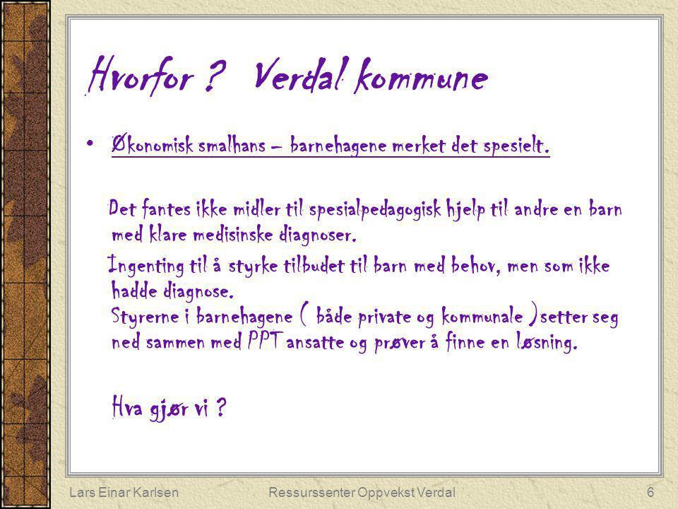 Hvorfor Verdal kommune