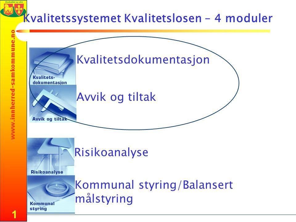 Kvalitetssystemet Kvalitetslosen – 4 moduler