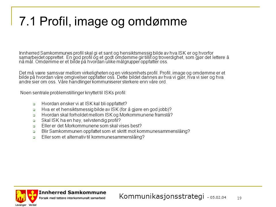 7.1 Profil, image og omdømme