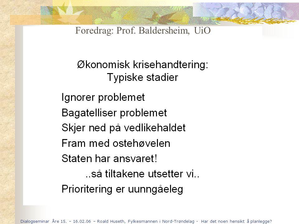 Foredrag: Prof. Baldersheim, UiO