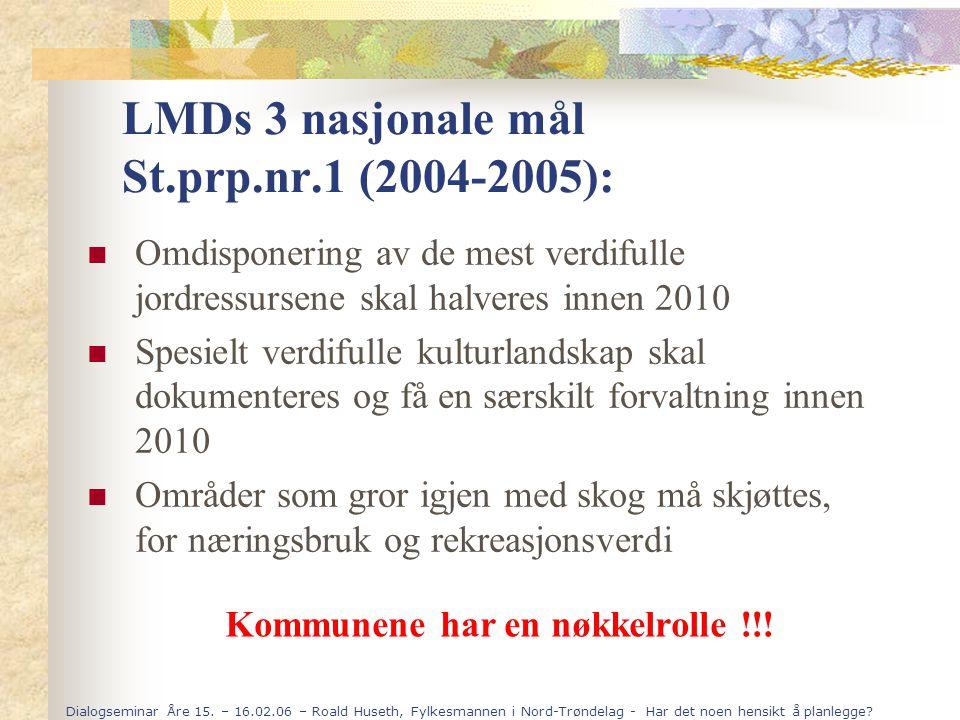 LMDs 3 nasjonale mål St.prp.nr.1 (2004-2005):