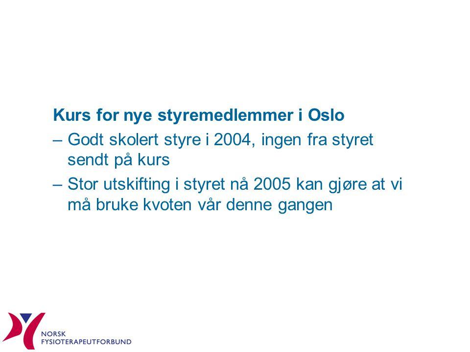Kurs for nye styremedlemmer i Oslo