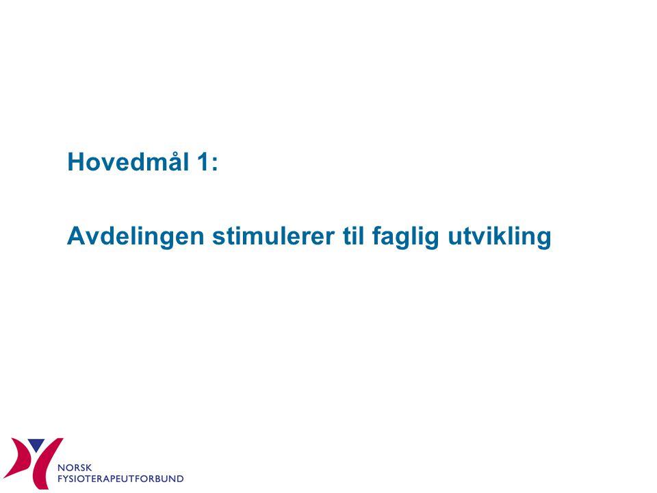 Hovedmål 1: Avdelingen stimulerer til faglig utvikling