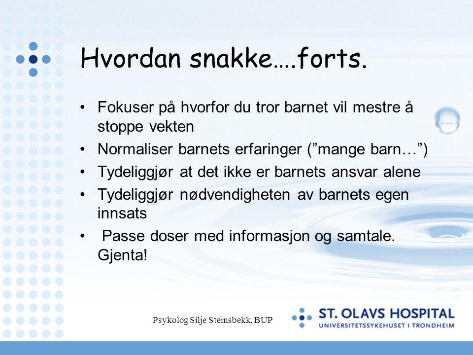 Psykolog Silje Steinsbekk, BUP